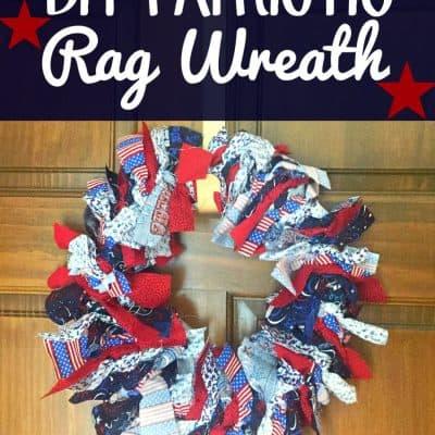 DIY Patriotic Rag Wreath Craft