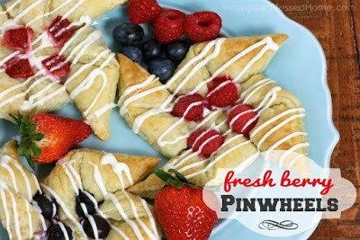 Fresh Berry Pinwheels from Happy and Blessed Home