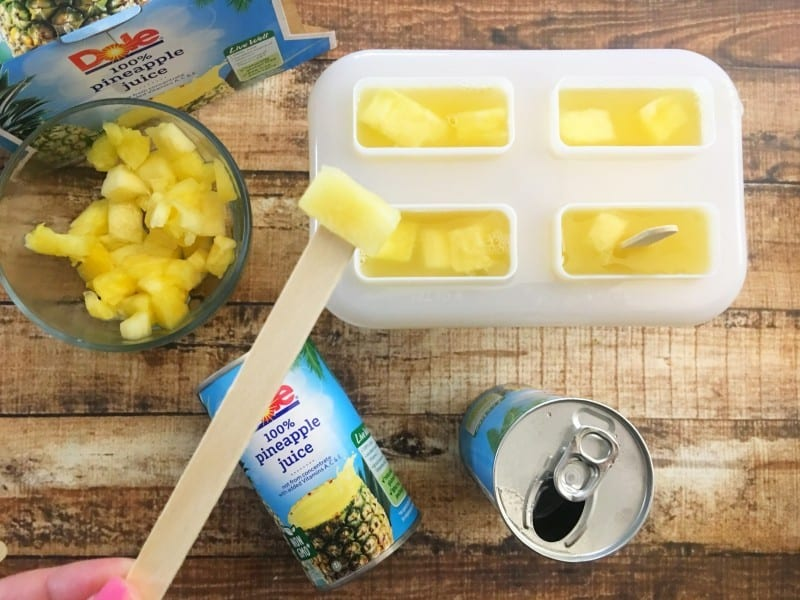 chocolate dipped pineapple pops process
