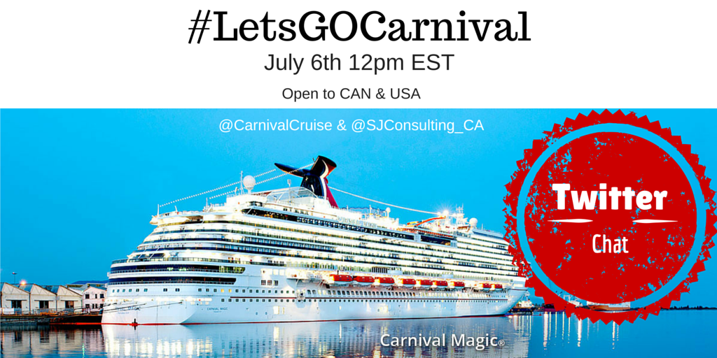 #LetsGOCarnival Twitter Party