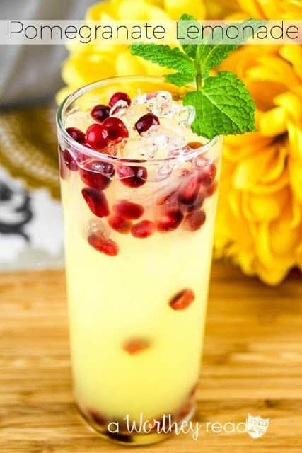 Pomegranate Lemonade from A Worthey Read