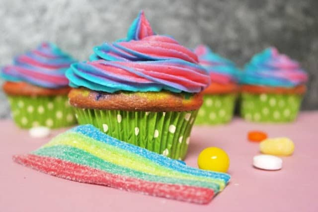 Somewhere Over the Rainbow Candy Cupcakes from Thinking Outside the Sandbox