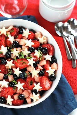 Strawberry Blueberry Jicama Salad from The Whole Serving