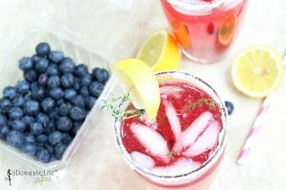 Summer Thyme Blueberry Lemonade from The Domestic Lifestylist 2