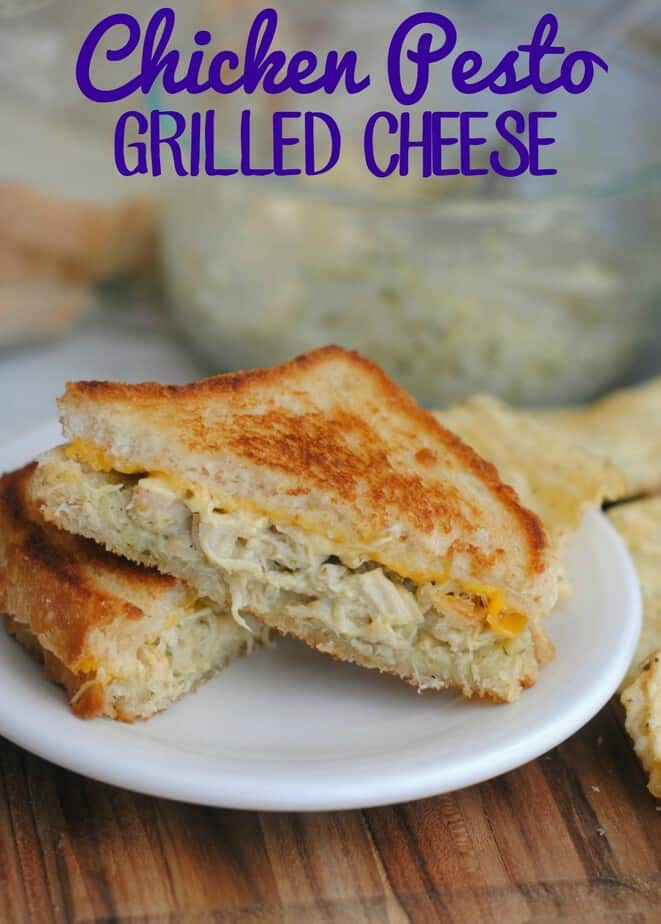 Chicken Pesto Grilled Cheese Recipe- This Mama Loves