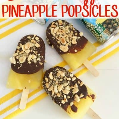 Chocolate-Dipped Pineapple Popsicles