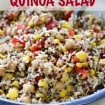 Parmesan Basil Quinoa Salad Recipe / This Mama Loves