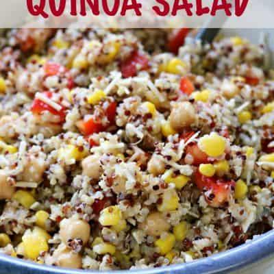 Parmesan Basil Quinoa Salad