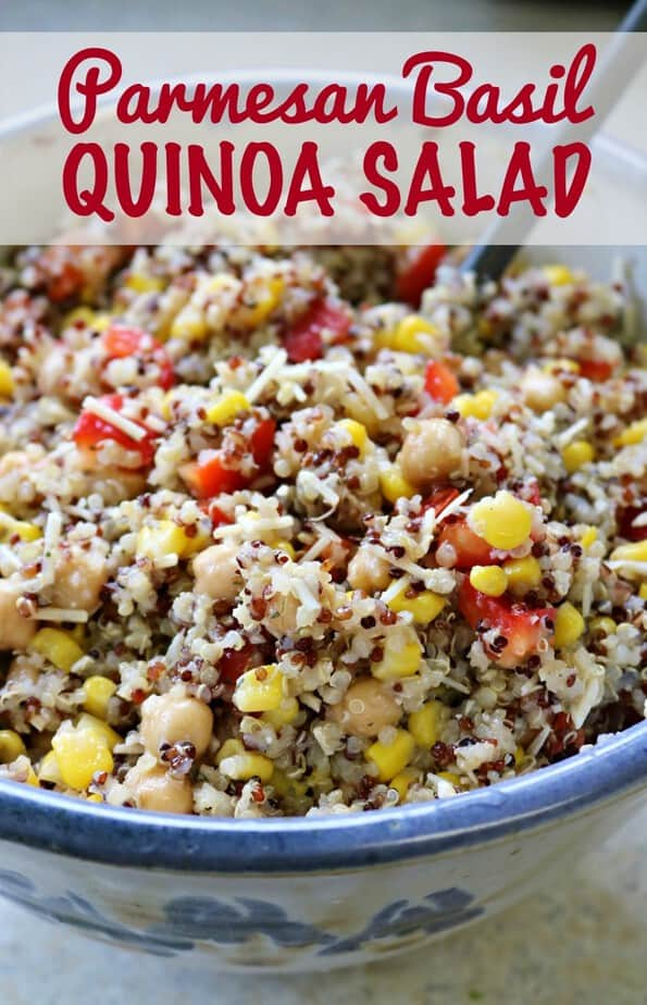 Parmesan Basil Quinoa Salad | This Mama Loves