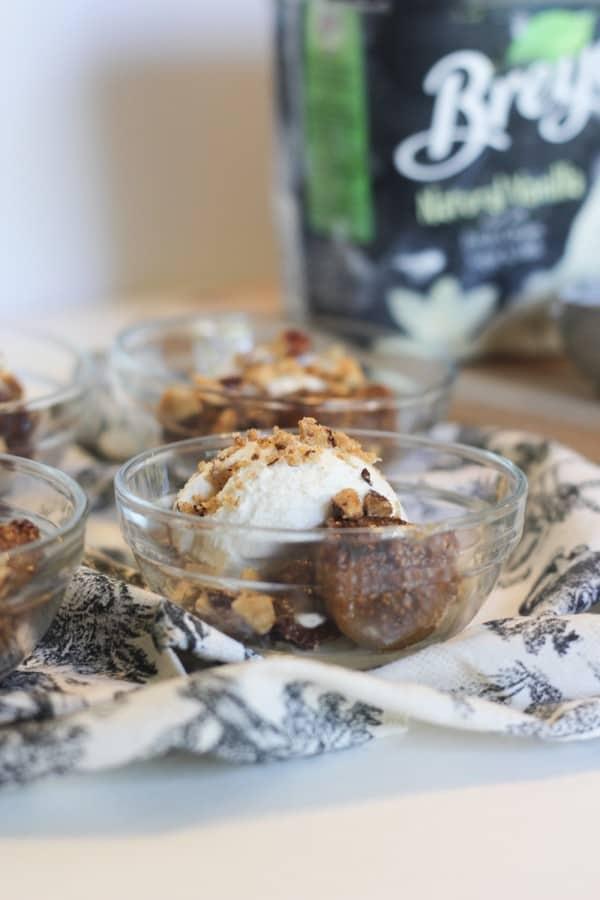 Spiced Roasted Figs with Hazelnuts & Vanilla Ice Cream