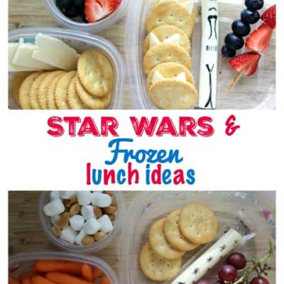 Star Wars & Frozen Lunch Ideas