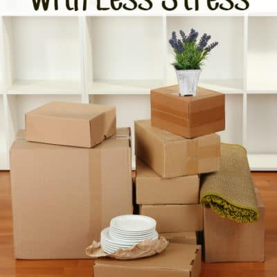 Tips for Moving with Less Stress #CORTathome #Moving