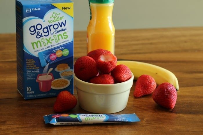 Orange Strawberry Banana Go & Grow Smoothie