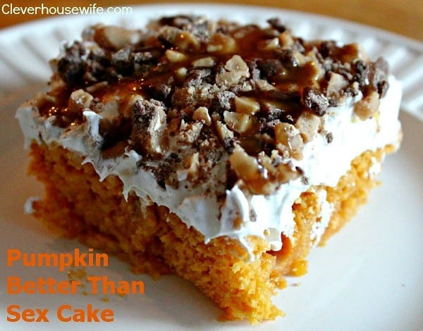 Pumpkin Better than Sex Cake from Clever Housewife