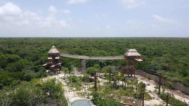 aerial lost mayan adventure view