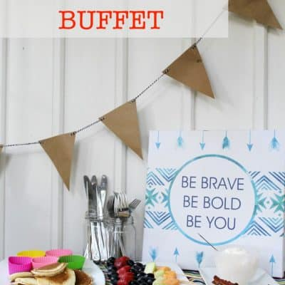 Back to School Breakfast Buffet Ideas + Happy National Pancake Month!