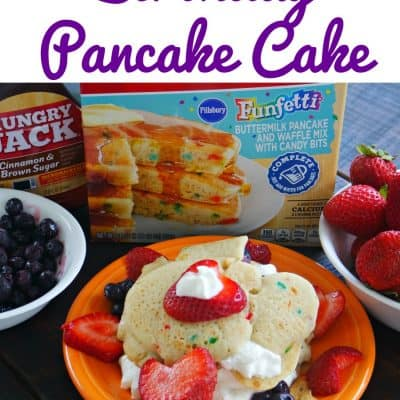 Birthday Pancake Cake: A birthday breakfast the kids can make for someone!