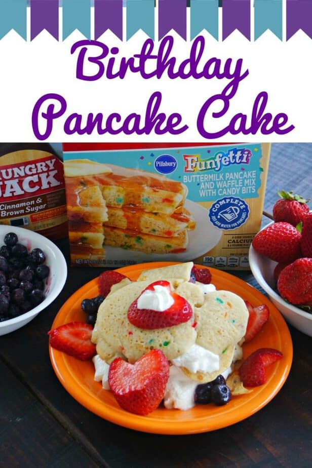 Birthday Pancake Cake Recipe & Instructions- This Mama Loves