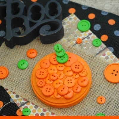 Fall Craft Idea: Button Pumpkin Craft