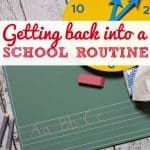 Getting back into a school routine- This Mama Loves