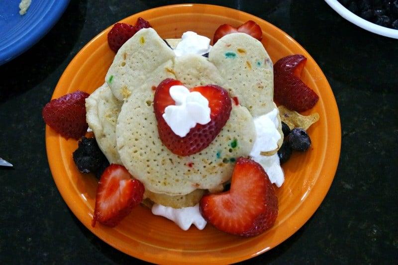 pancake cake fruit