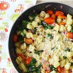 Pasta Kale Skillet Dish/ This Mama Loves