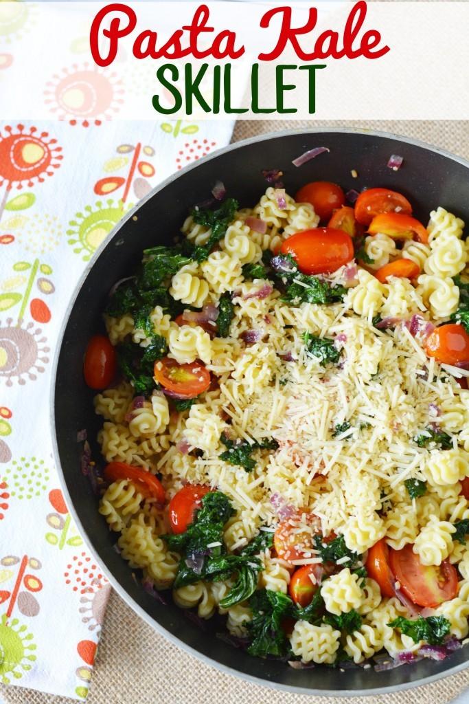 Pasta Kale Skillet Dish/ This Mama Loves