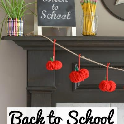 Back to School Apple Garland