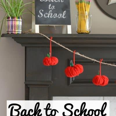 Back to School Apple Garland