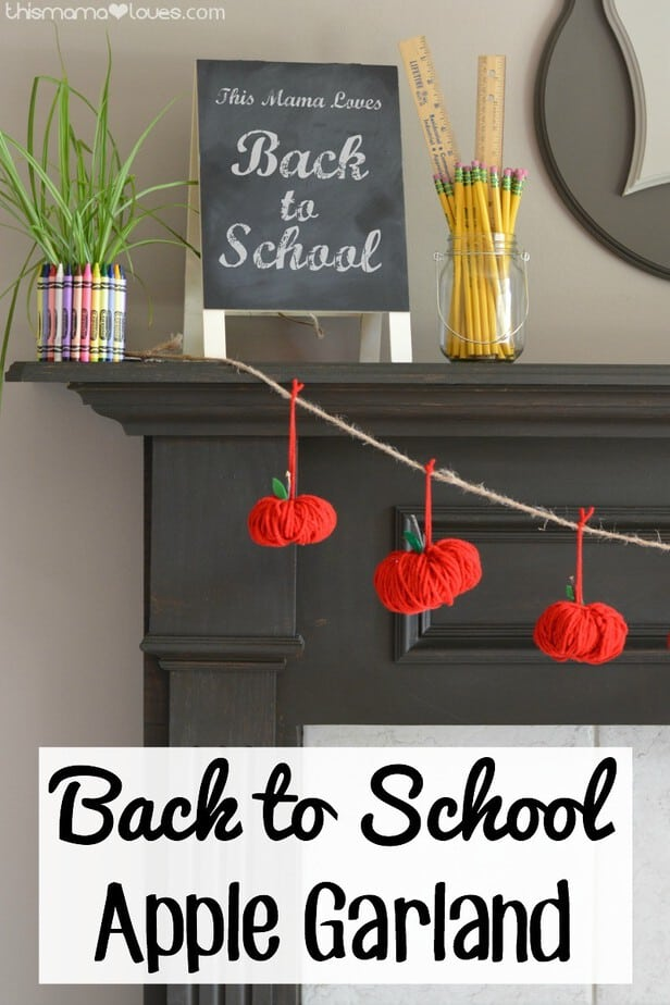 This back to school apple garland is the perfect decoration to get your kick back into school mode!