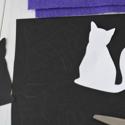 Halloween Craft: Purple Cat Garland