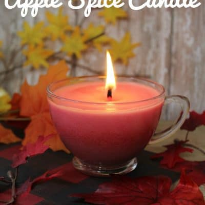 Homemade Apple Spice Candle