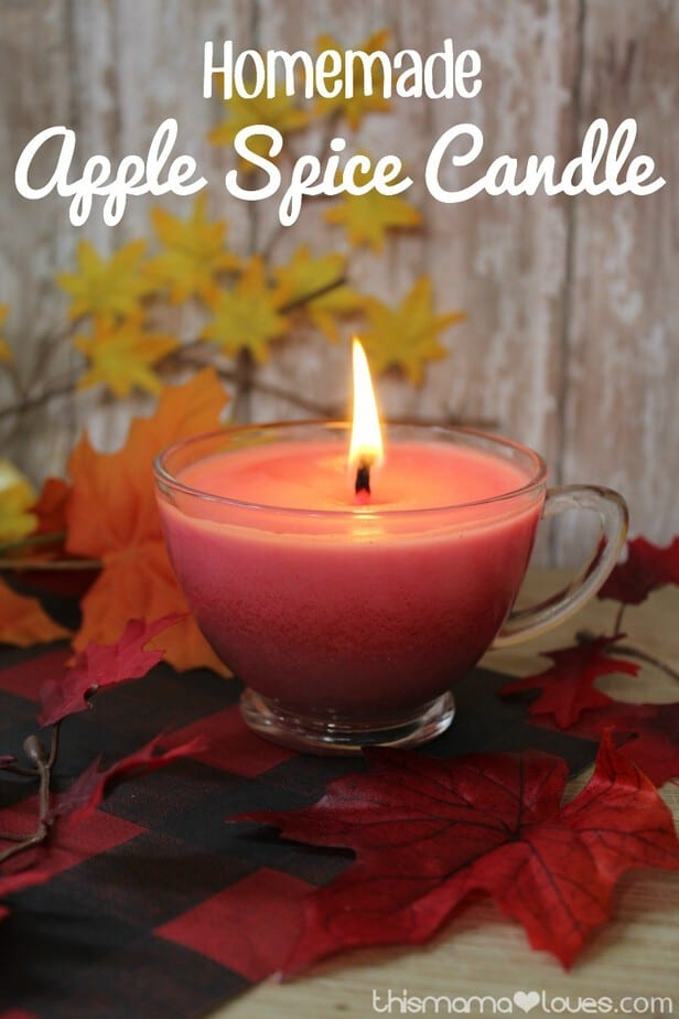 This homemade apple spice candle offers a lovely scent for your home!