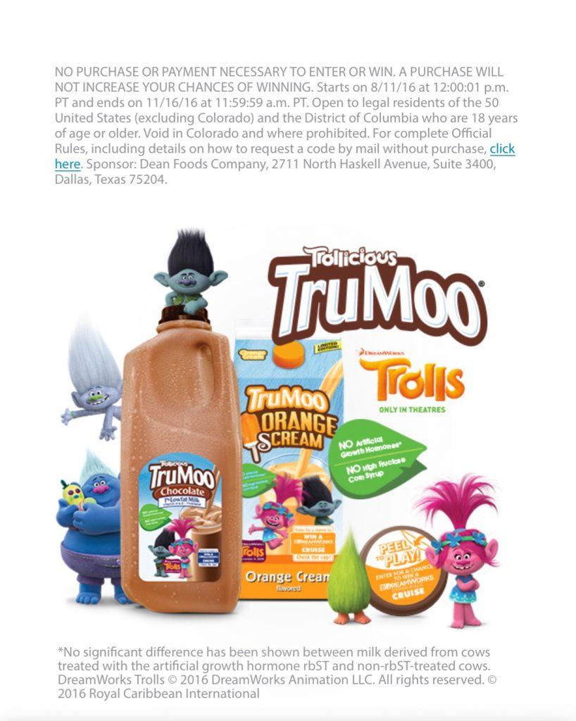Dreamworks TruMoo cruise giveaway