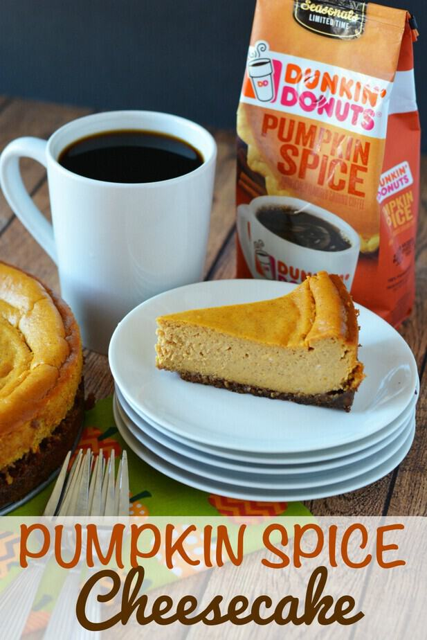 Pumpkin Spice Cheesecake Recipe- secret ingredient in this recipe- pumpkin spice and coffee pair to make for a delightful treat for your tastebuds!- pumpkin spice coffee, pumpkin spice, cheesecake, coffee cheesecake, #PumpkinSpice,  #cheesecake, #Cheesecakerecipe #PumpkinSpicerecipe