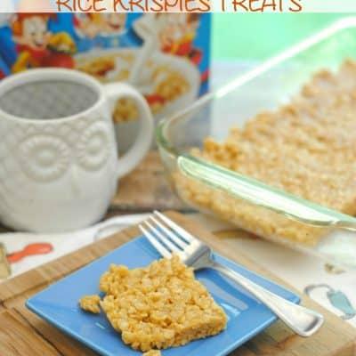 Pumpkin Spice Latte Rice Krispies Treats