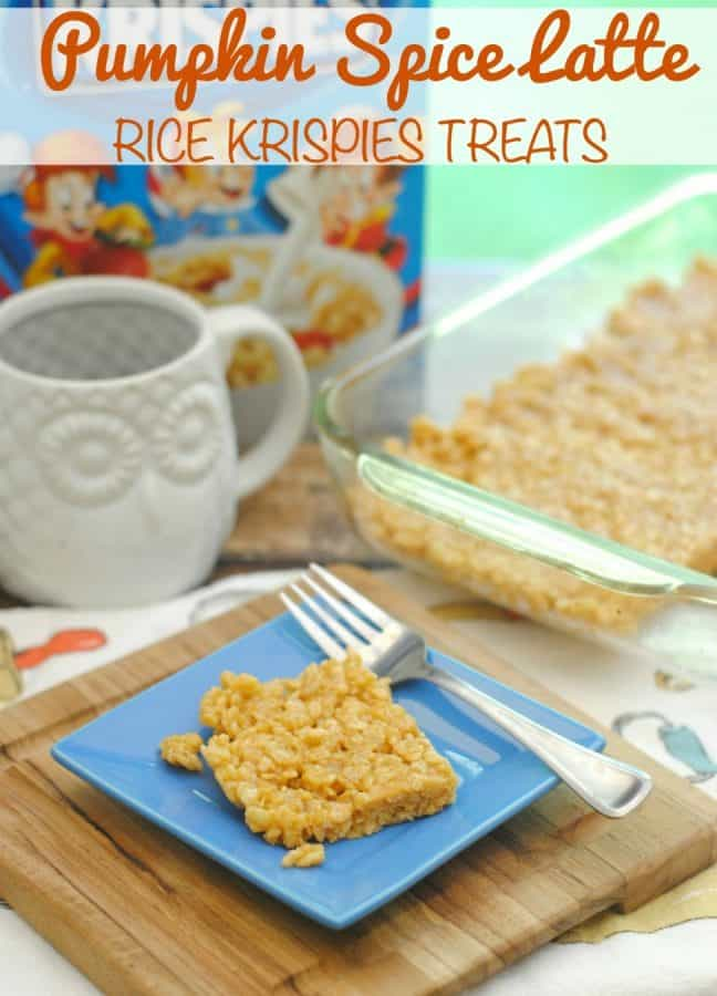 Pumpkin Spice Latte Rice Krispies Treat Recipe (This Mama Loves)