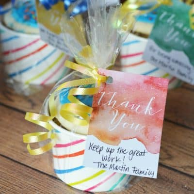 Simple Homemade Thank You Gift Idea {Free Printable}