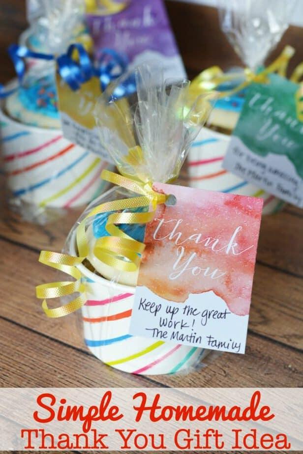 Simple Homemade Thank You Gift Idea {Free Printable