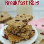 Cranberry Breakfast Bars Recipe- This Mama Loves