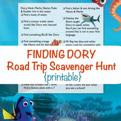Finding Family for the Holidays + Finding Dory Scavenger Hunt Printable #FindingDory