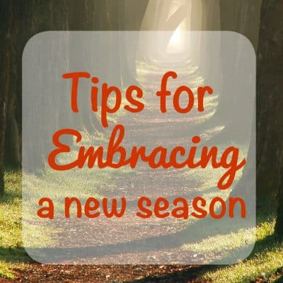 Tips for Embracing the New Season #StillGoing