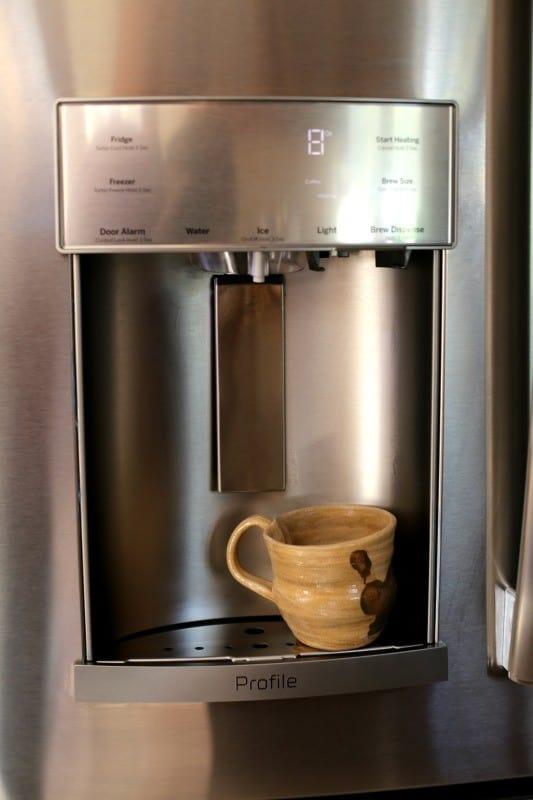 Keurig Coffee Maker In Refrigerator : French-Door Refrigerator with Keurig K-Cup Brewing System #Mygekitchen