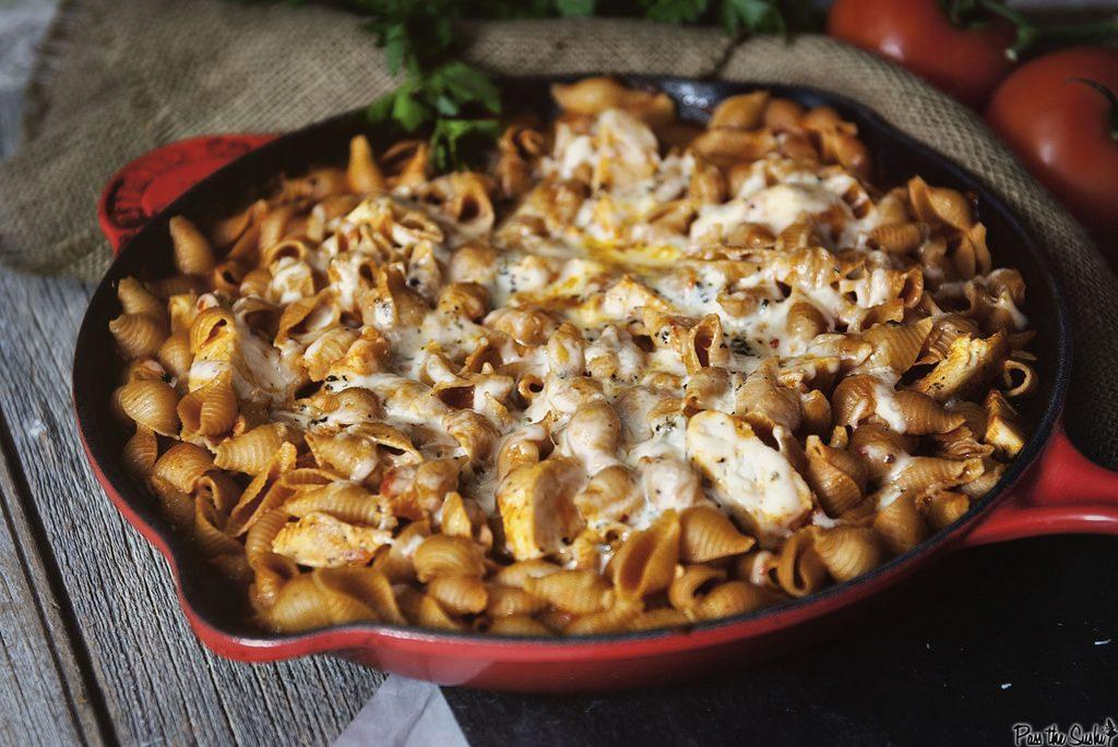 skillet-chicken-parm-pasta
