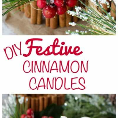 DIY Festive Cinnamon Candles Craft