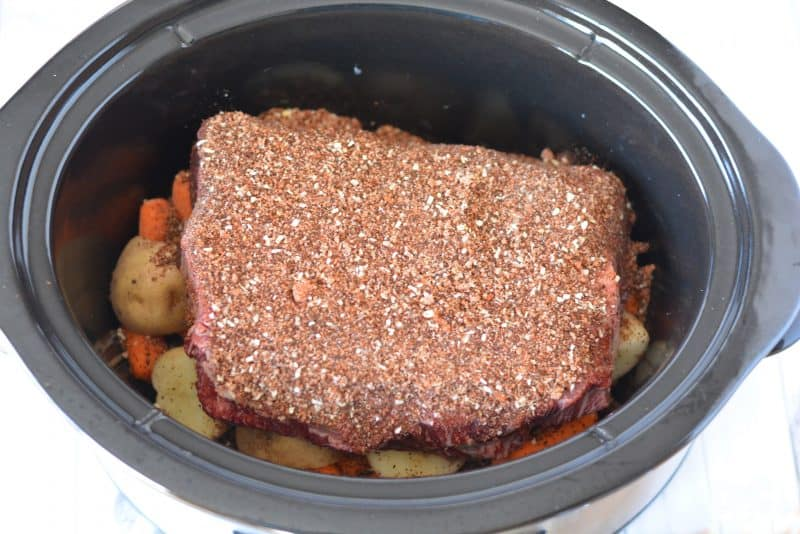 Slow Cooker Coffee Rubbed Roast | This Mama Loves