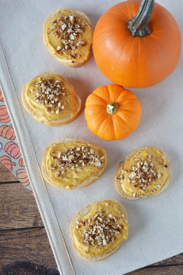 Pumpkin Pecan Cream Cheese Appetizers from This Mama Loves