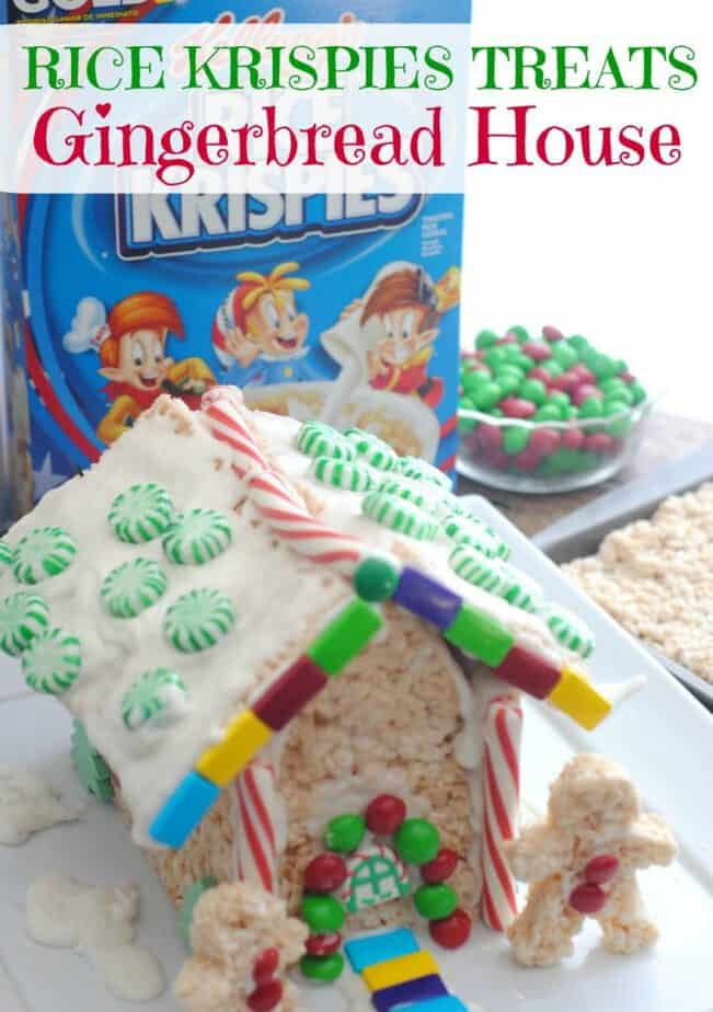 Rice Krispies Treats Gingerbread House from This Mama Loves