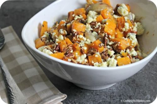 loved Roasted Butternut Squash with Pecans, Shallots and Blue Cheese ...