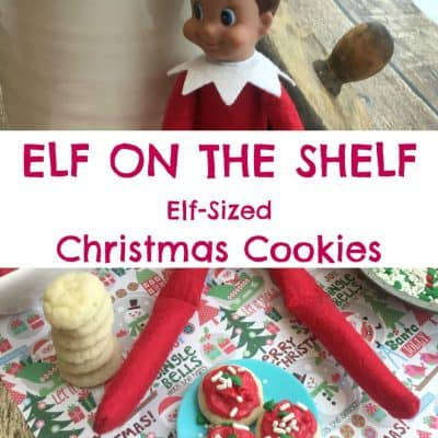 Elf on the Shelf Elf Sized Christmas Cookies